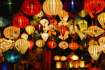 Traditional lamps in Old Town Hoi An. Wall mural
