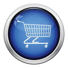 Supermarket shopping cart icon