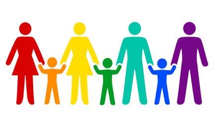 Familie, Vielfalt in bunt