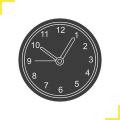 Wall clock glyph illustration