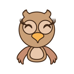 owl baby animal funny image vector illustration eps 10