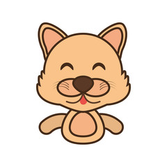 wolf baby animal funny image vector illustration eps 10