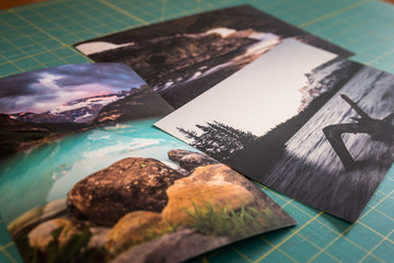 Photo Prints On Cutting Board