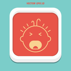 cry baby vector icon design