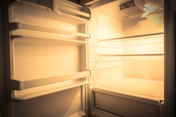 Empty refrigerator vintage