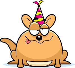 Cartoon Kangaroo Drunk Party