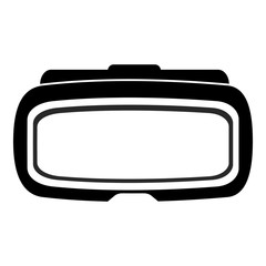 Isolated virtual reality glasses on a white background, Vector illustration