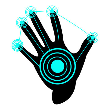 Isolated virtual reality gloves on a white background, Vector illustration