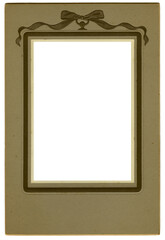 Empty old weathered photo card frame