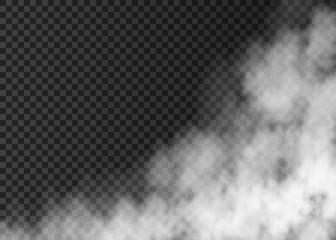 White smoke  isolated on transparent background.