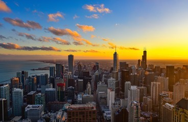 Wall Mural - Chicago Sunset