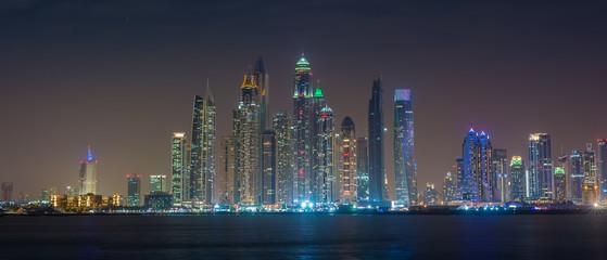 Dubai Marina at Night -  Panorama
