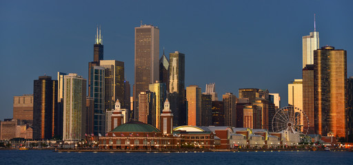 Wall Mural - Chicago in view