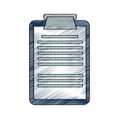 medical report icon over white background. vector illustration
