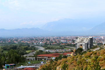 The Rozafa Castle, Shkodra, Albania. View of the city and mountains from above