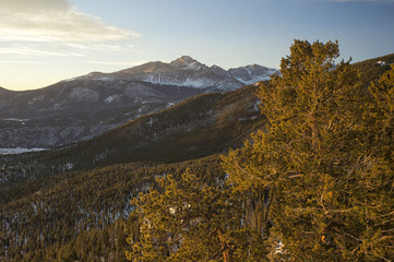 Long's Peak at sunrise in Colorado Rockies