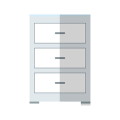 drawer icon over white background. colorful desing. vector illustration