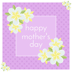 Happy Mother's Day greeting card. Great for cards, banners and posters.