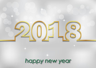 2018 Happy New Year background.