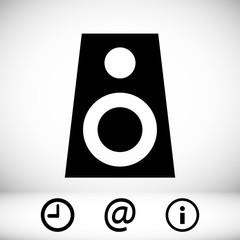 Audio speakers icon stock vector illustration flat design