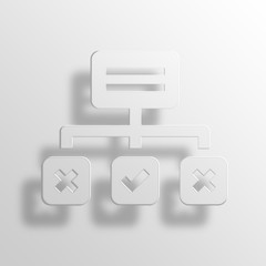 strategy 3D Paper Icon Symbol Business Concept