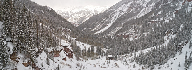Telluride Colorado USA Canyon View of Surrounding Forest Mountains