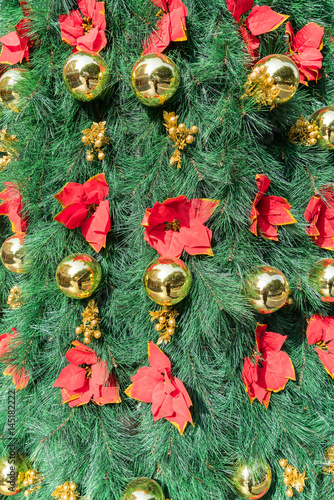 colorful Christmas tree decoration. Abstract macro background.