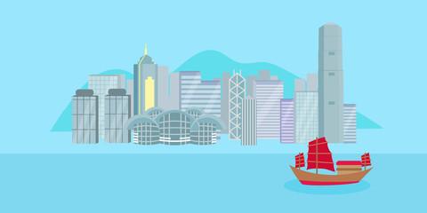 cartoon hongkong city