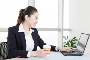 young asian businesswoman in modern office