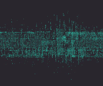 An abstract background consisting of binary numbers.