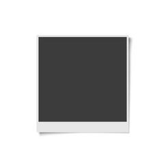 Realistic vector retro blank photo frame