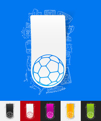 ball paper sticker with hand drawn elements