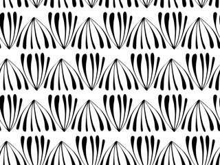 Abstract seamless background pattern . Monochrome vector illustration.