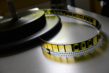 film strip on the pasteboard