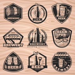 Black Brewery Labels Set