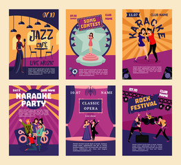 Music Entertainment And Karaoke Posters