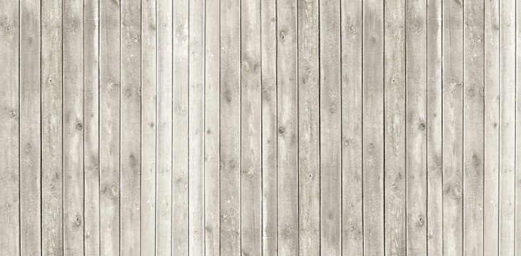 Vintage whitewash painted rustic old wooden  plank wall  textured background. Faded natural wood board panel structure.
