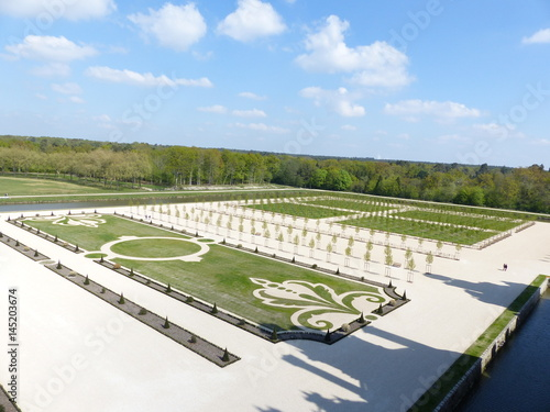 Chambord Et Ses Jardins A La Francaise Stock Photo And Royalty Free