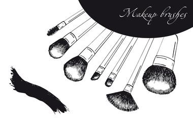 Makeup set sketch brushes