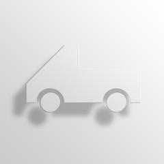 pickup truck 3D Paper Icon Symbol Business Concept