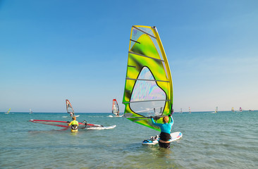 windsurfing rhodes island greece