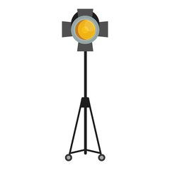 yellow spotlight for film studio