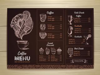 Vintage coffee menu design