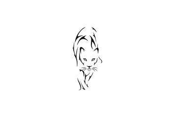 Lion Tiger  tribal tattoo design