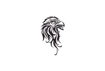 Eagle face  tribal tattoo design