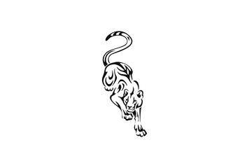 Tiger or Lion tribal tattoo design