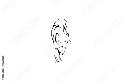 Lion Tiger Tribal Tattoo Design Stock Image And Royalty Free Vector