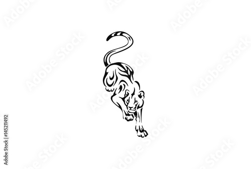 Tiger Or Lion Tribal Tattoo Design Stock Image And Royalty Free