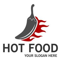 Hot food logo