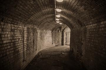 Old Kenigsberg castle entrance. World war II fort.